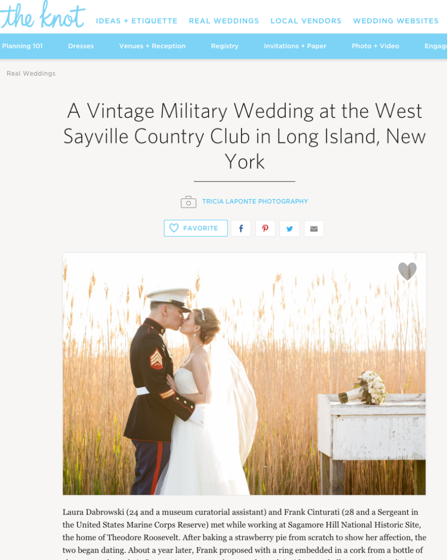 The Knot Wedding Feature, Tricia LaPonte Photography, West Sayville